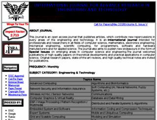 ijaret.org screenshot