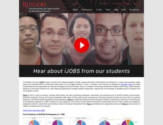ijobs.rutgers.edu screenshot
