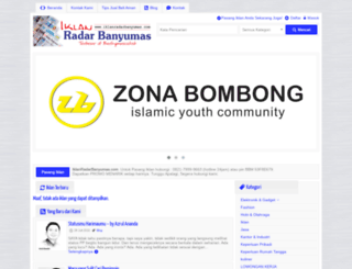 iklanradarbanyumas.com screenshot