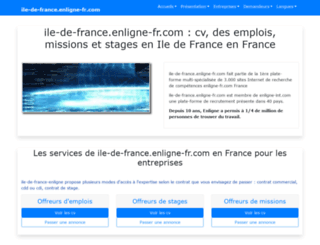ile-de-france.enligne-fr.com screenshot