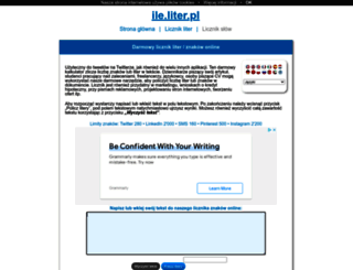 ile.liter.pl screenshot