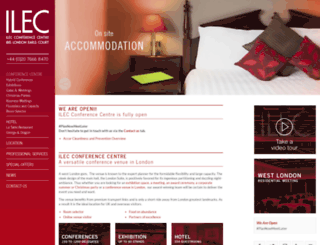 ilecconferencecentre.co.uk screenshot