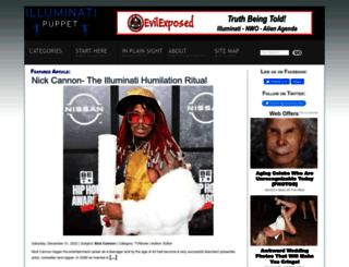 illuminatipuppet.com screenshot
