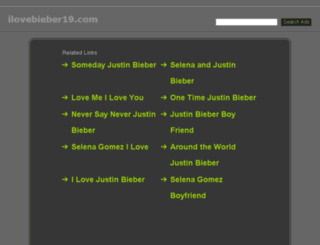 ilovebieber19.com screenshot