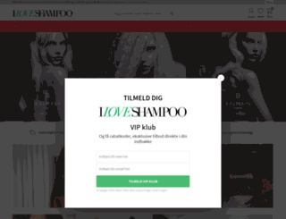 iloveshampoo.dk screenshot