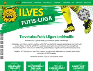 ilvesfutisliiga.fi screenshot