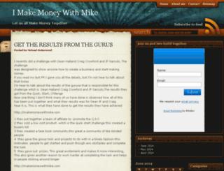 imakemoneywithmike.com screenshot