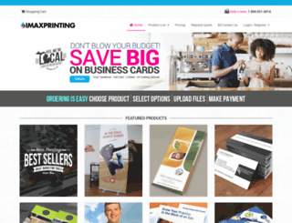 imaxprinting.com screenshot