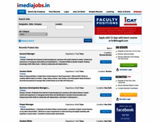 imediajobs.in screenshot