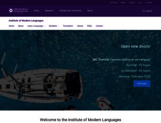 iml.uq.edu.au screenshot