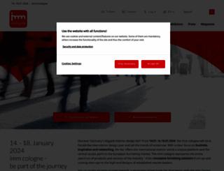 imm-cologne.com screenshot