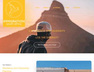 immigrationsouthafrica.org screenshot
