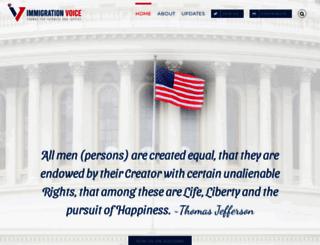 immigrationvoice.org screenshot