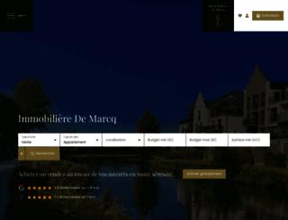 immomarcq.fr screenshot