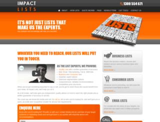 impactlists.com.au screenshot