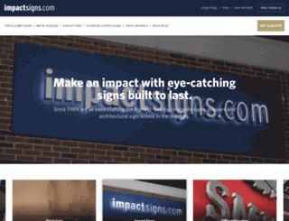 impactsignschicago.com screenshot