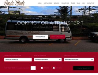 impalashuttles.com screenshot