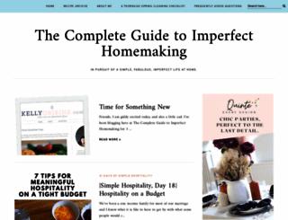 imperfecthomemaking.com screenshot