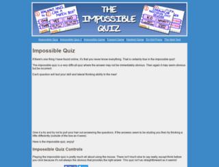 impossible-quiz.org screenshot