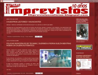 imprevistosnoticias.blogspot.mx screenshot