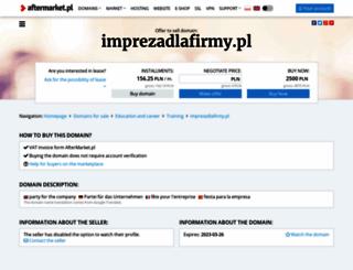 imprezadlafirmy.pl screenshot