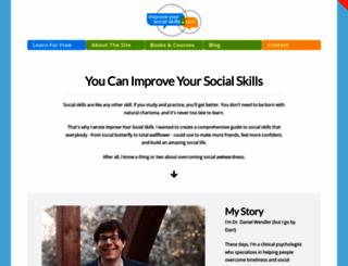 improveyoursocialskills.com screenshot