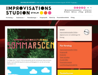 improvisationsteater.se screenshot