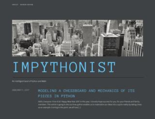 impythonist.wordpress.com screenshot