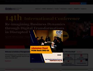 ims-ghaziabad.ac.in screenshot