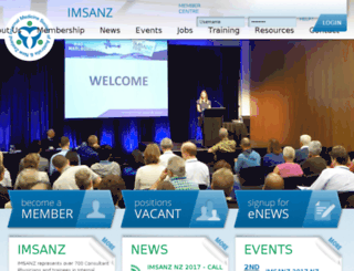 imsanz.org.au screenshot