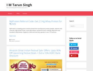 imtarunsingh.net screenshot