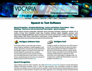 in.vocapia.com screenshot