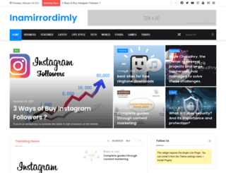 inamirrordimly.com screenshot