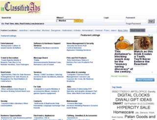 inclassifiedads.com screenshot