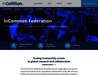 incommonfederation.org screenshot