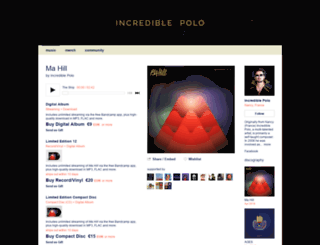 incrediblepolo.bandcamp.com screenshot
