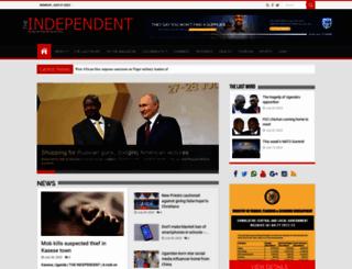 independent.co.ug screenshot
