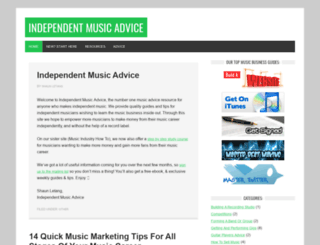 independentmusicadvice.com screenshot