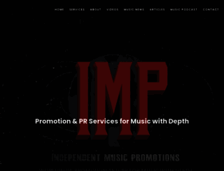 independentmusicpromotions.com screenshot