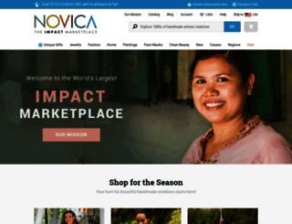india.novica.com screenshot