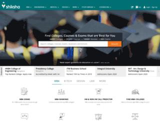 india.shiksha.com screenshot