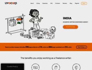 india.uvocorp.com screenshot