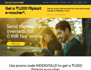 india.westernunion.com screenshot