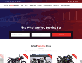 indiabestbikes.com screenshot