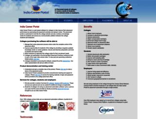 indiacareerportal.com screenshot