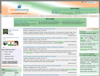 indiaelectioninfo.com screenshot