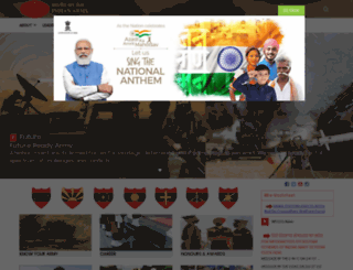 indianarmy.gov.in screenshot