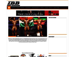 indianbodybuilding.co.in screenshot