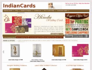 indiancards.com screenshot