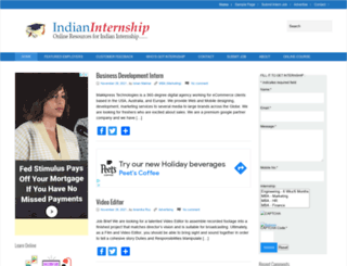 indianinternship.com screenshot